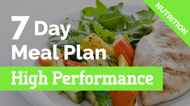 7 day meal plan for runners