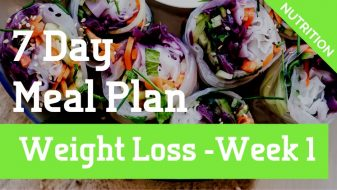 Weight Loss Meal Plan Week 1