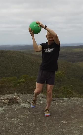 Medicine Ball Workout above head